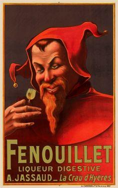 Fenouillet by Auzuelle 1910 France - Vintage Poster Reproduction.…