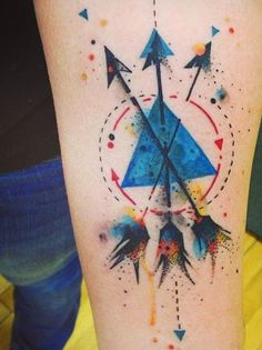 geometric watercolor tattoos - Google zoeken