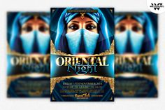 Oriental Indian Flyer Template by WG-VISUALARTS on @creativemarket