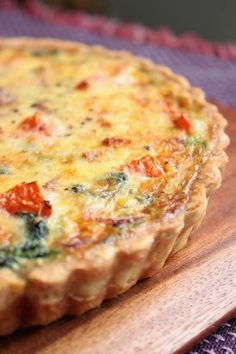 Sugar & Everything Nice: Spinach Quiche adjust recipe to substitue lower fat crust; lesser amount of milk for cream and goat cheese with parmesan. Breakfast Dishes, Breakfast Time, Breakfast Recipes, Breakfast Spinach, Vegetarian Breakfast, Quiches, Quiche Recipes, Brunch Recipes, Spinach Quiche