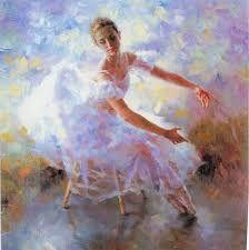Resultado de imagen de pinturas de bailarinas de ballet