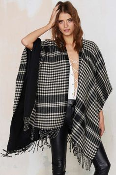 Warm Welcome Plaid Poncho - Scarves + Gloves | Accessories | Cold Weather Gear | All