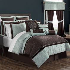 Features:  -Imported.  Product Type: -Comforter/Comforter set.  Color: -Brown.  Material: -Sateen.  Cleaning Method: -Spot clean/Dry clean only.  Pattern: -Geometric.  Thread Count: -300.  Material De