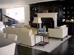 Modern Living Room Design Ideas by Nicole Sassaman Belmont, Bookcase Makeover, White Mantel, Black And White Living Room, Living Room Modern, Living Rooms, Fireplace Design, Minimalist Living, Hearth