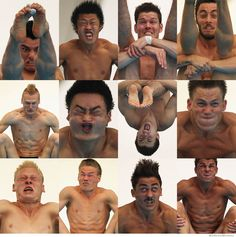 Olympic Divers in Mid Dive.  Ahahahaha