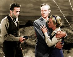 Leslie Howard, Bette Davis and Humphrey Bogart in The Petrified Forest 1936
