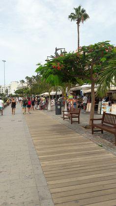 Los Cristianos Tenerife, Park Resorts, Canario, Sidewalk, Street View, Christmas, Travel, Antigua, Canary Islands