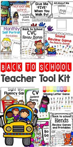 Start your school year off right with these back to school themed games and activities!