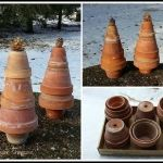 BizScaper Diana of Diana's DIY Den created these terra cotta Christmas Trees! - Copy
