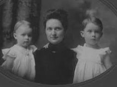 Sarah Moore with two of her children.