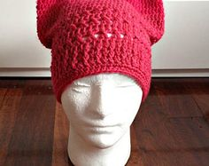 deep pink crochet/knitted pussyhat, pussy cat beanie hat, kitty cat hat, pussy beanie, kitty hat, knit beanie hat, girl's woman's hat