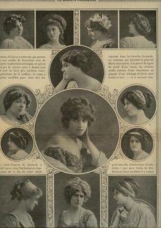 "Edwardian hair styles.  ""Edwardian period is de periode dat King Edward VII aan de macht was in The United Kingdom  (1901 - 1910)"": Haarkunstenares Gyta"