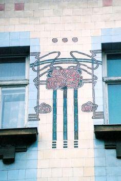 Art Nouveau tilework - Zagreb