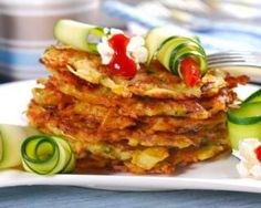 From Garden to Table: Crispy Baked Zucchini Potato Pancakes Diet Recipes, Vegetarian Recipes, Healthy Recipes, Kfc, Potato Pancakes, No Cook Meals, Vegetable Recipes, Food Porn, Food And Drink