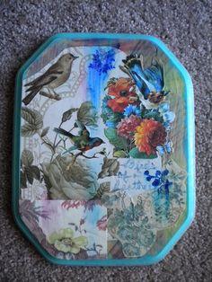 Decoupage Plaque in RescuersHelper's Garage Sale in Lansing , MI for $20.00. This one-of-a-kind decoupage is handmade using mixed media and vintage postcards. A great addition to your home decor!!!