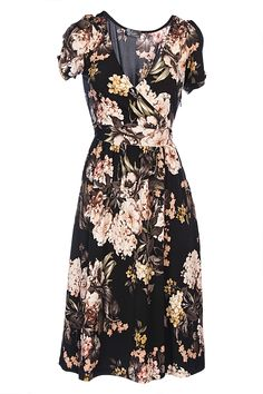 I so wish I had this} Crossover Floral Jersey Dress