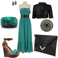 """Maxi Dress w/ Wedges"" by amyjoyful1 on Polyvore"