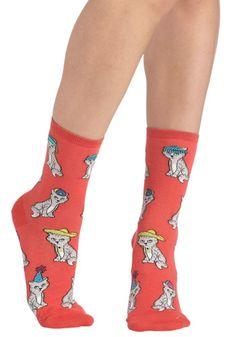 Cute kitten socks :D  Wearable Whimsy Socks in Kittens, #ModCloth