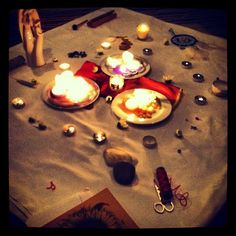 energyawakening:  Blessing-way ceremony altar during my tribe's beautiful celebration of the transition from maiden to mother. Best kind of ...