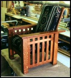 Craftsman Style Chairs. Chairs for the Arts & Crafts style home. Handcrafted solid hardwood chairs in a variety of types and sizes. Morris chairs, writers chairs, and dining chairs inspired by the great designers of the Arts & Crafts Movement.
