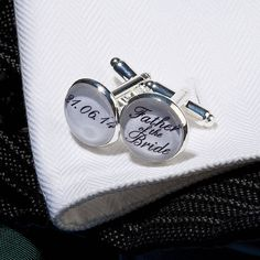personalised silver plated wedding cufflinks by all things brighton beautiful   notonthehighstreet.com
