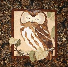 Whoo's The Cutest Owl Toni Whitney Bird Fusible Applique Quilt Pattern Owl Quilts, Bird Quilt, Animal Quilts, Scrappy Quilts, Mini Quilts, Baby Quilts, Owl Quilt Pattern, Applique Quilt Patterns, Pattern Art