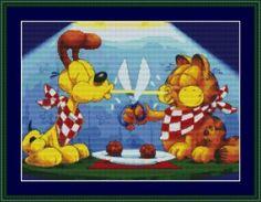 Garfield and Odie Cross Stitch Pattern