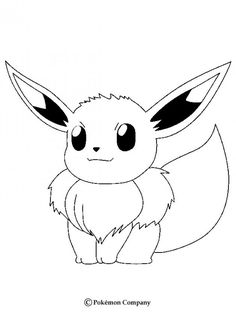 Eevee Pokemon Coloring Page More Sheets On Hellokids