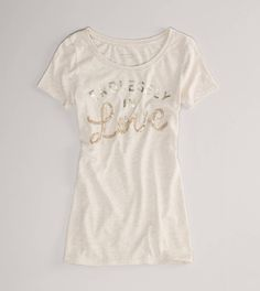 AE Sequined Love Graphic T