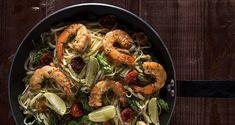 Λιγκουίνι με γαρίδες, λάιμ και σπαράγγια