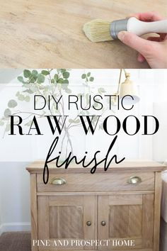This DIY Rustic Raw Wood finish is so simple! Raw Wood Furniture, Diy Furniture Projects, Diy Wood Projects, Furniture Makeover, Furniture Plans, Staining Wood Furniture, Wood Crafts, Diy Home Furniture, Western Furniture