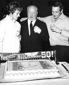 Julie Andrews, Alfred Hitchcock & Paul Newman
