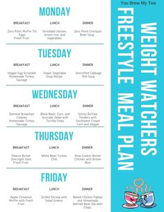 Weight Watchers FreeStyle has arrived and here is our One Week Menu Plan with printables! Tihs is a Weight Watchers Meal Plan based on 23 SmartPoints daily!