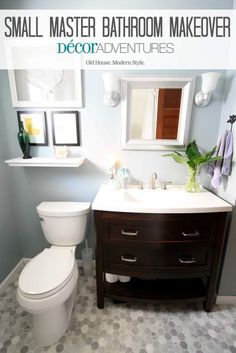 Get inspired by the small bathroom makeover
