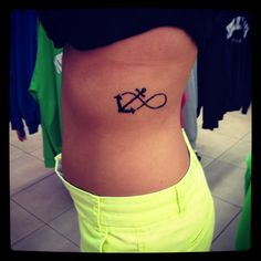 Infinity anchor tattoo.. . Hebrews 6:14 still love this even though now i put something else in front of an infinity!