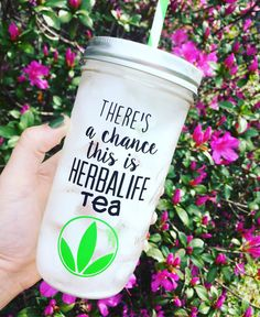 Enjoy your Herbalife tea in this custom cup! Gift to your friends and Herbalife supporters!