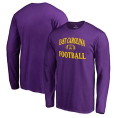 b41e3236e East Carolina Pirates Fanatics Branded Neutral Zone Long Sleeve T-Shirt -  Purple
