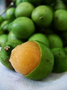 Mamones- commonly called Spanish lime, genip, guinep, genipe, ginepa, quenepa, canepa, mamon, limoncillo or mamoncillo.