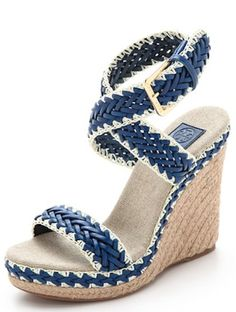 love these braided leather wedges and they're 30% off