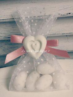 Sacchettini-bomboniere in tulle bianco a pois, by ♥La casa di Gaia♥, 3,50 € su…