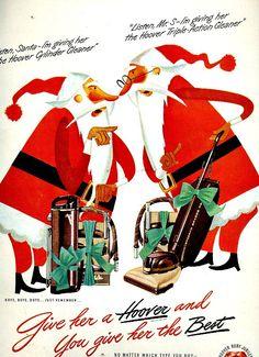 Vintage Hoover Vacuum Advertisement, Christmas 1948