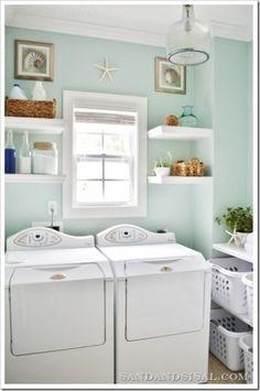 Sherwin Williams Sea Salt and Rainwashed. Laundry BasketsLaundry AreaLaundry  Room ColorsSmall ...
