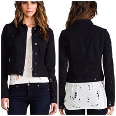 Paige Vermont black denim jacket Vermont jacket in black vintage. Cotton blend. Distressed style throughout. Offers welcome through offer tab. No trades. Paige Jeans Jackets & Coats Jean Jackets