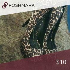 Cheetah heels New Shoes Platforms
