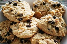 Biscuits Moelleux aux Bananes, Beurre d'Arachide et Brisures de Chocolat