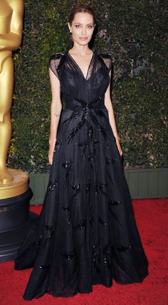 ANGELINA JOLIE Angelina Jolie wowed at the Academy of Motion Picture Arts and Sciences' Governors Awards in a Swarovski embellished Atelier ...