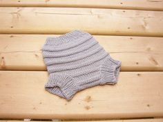 Hand Knitted Merino Wool Cloth Diaper Cover by SrechaHandknits