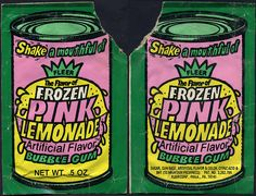 Fleer - Frozen Pink Lemonade Flavor Bubble Gum - 1970's by JasonLiebig