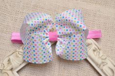 Easter Headband Bow Headband Baby Toddler Girl by YourFinalTouch