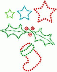 Silhouette Design Store: rhinestone - 4 christmas shapes